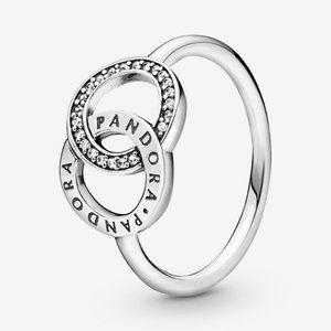 🍓Pandora Entwined Circles Pandora Logo & Sparkle